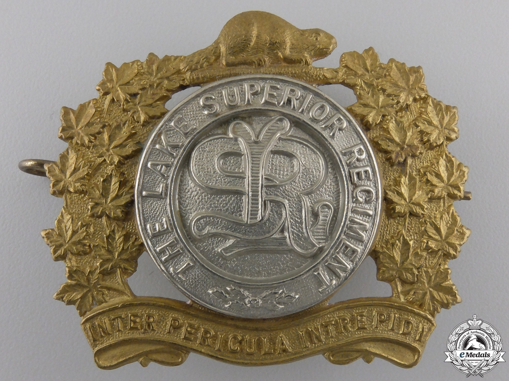 eMedals-A Second War Lake Superior Regiment Cap Badge