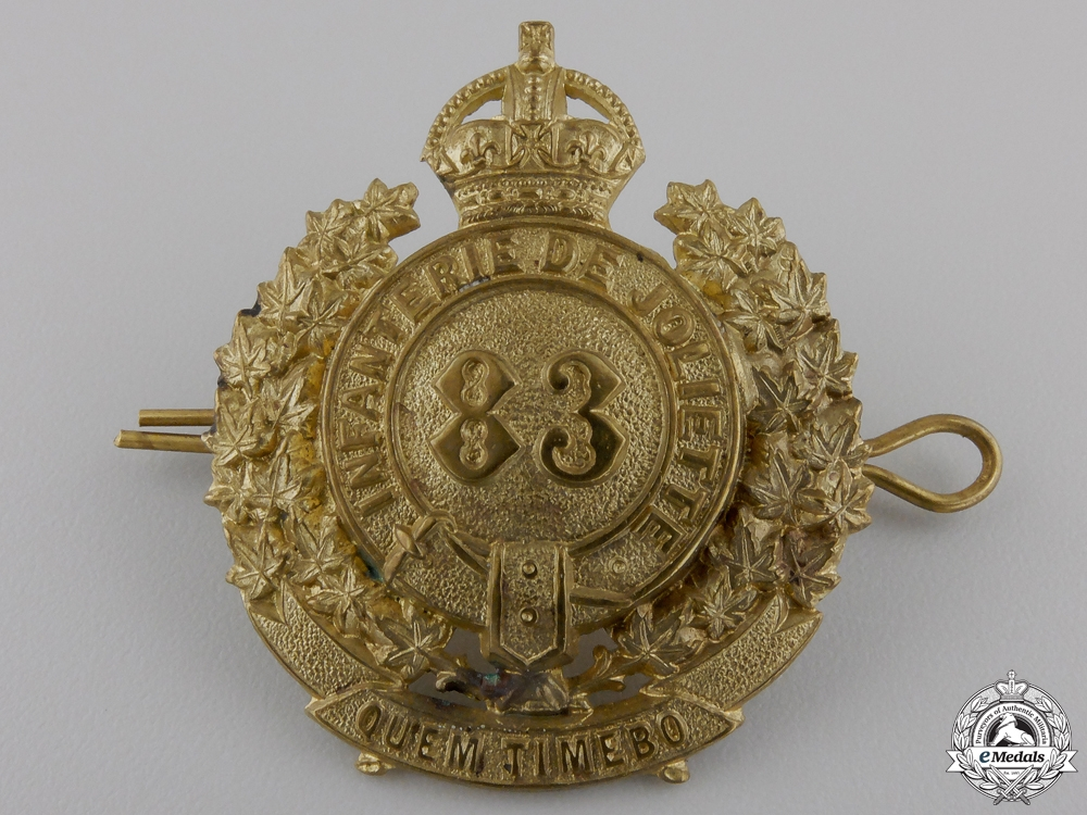 eMedals-A Second War Le Régiment de Joliette Cap Badge