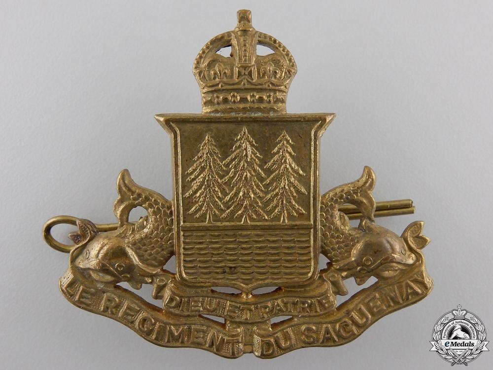 eMedals-A Second War Le Régiment de Saguenay Cap Badge