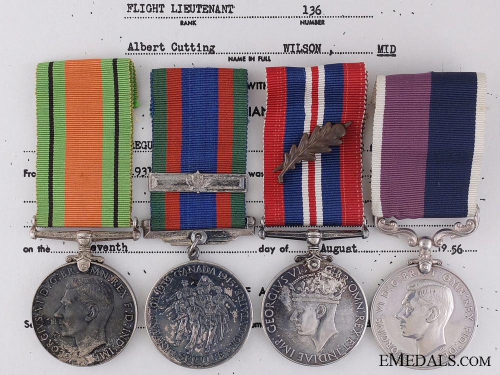eMedals-A Second War Long Service Medal Group to Lt. Wilson R.C.A.F.