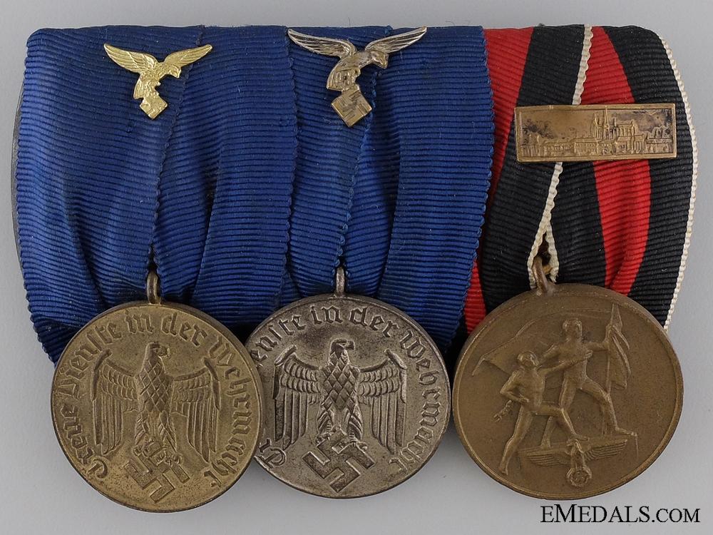 eMedals-A Second War Luftwaffe Long Service Medal Bar