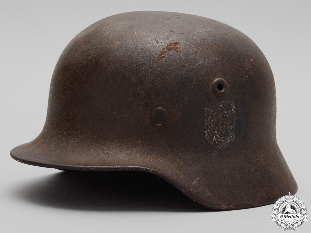 eMedals-A Second War M40 Heer Single Decal Helmet