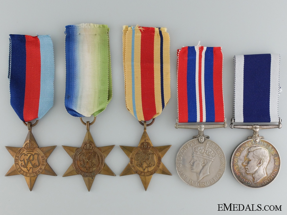 eMedals-A Second War Medal Group to the Destroyer HMS Lewes
