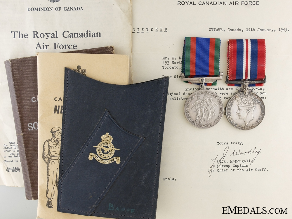 eMedals-A Second War Medal Pair to the Royal Canadian Air Force