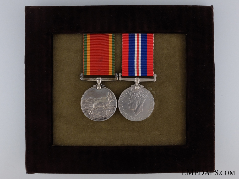 eMedals-A Second War Medal Pair to South African Military Nurse