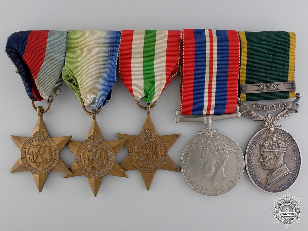 eMedals-A Second War Medal Bar to Royal Army Medical Corps