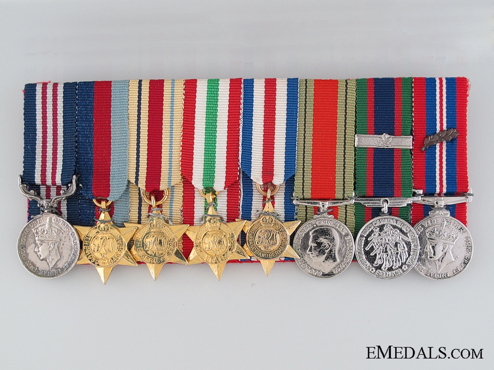 eMedals-A Second War Miniature Military Medal Group