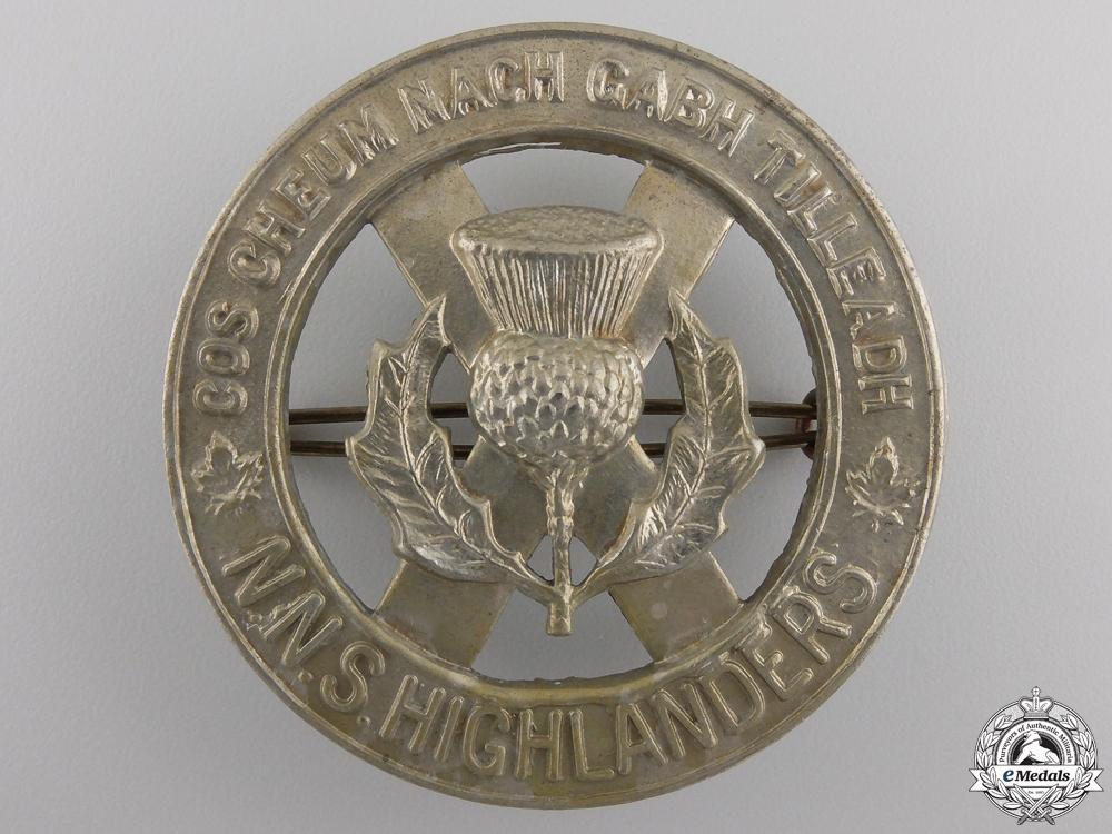 eMedals-A Second War North Nova Scotia Highlanders Glengarry Badge