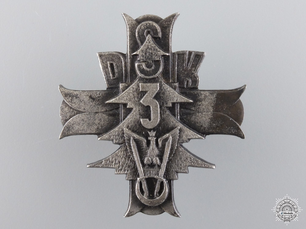 eMedals-A Second War Polish 3rd Carpathian Rifle Div. Badge