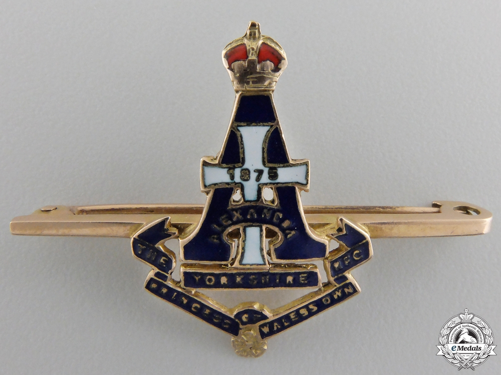 eMedals-A Second War Princess of Wales's Own Yorkshire Regiment Pin in Gold