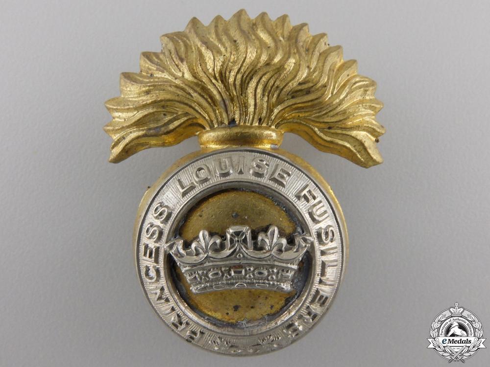 eMedals-A Second War Princess Louise Fusiliers Cap Badge