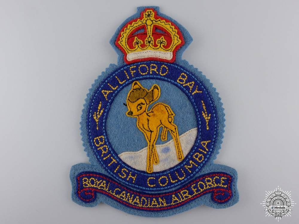 eMedals-A Second War RCAF Station Alliford Bay Jacket Breast Patch