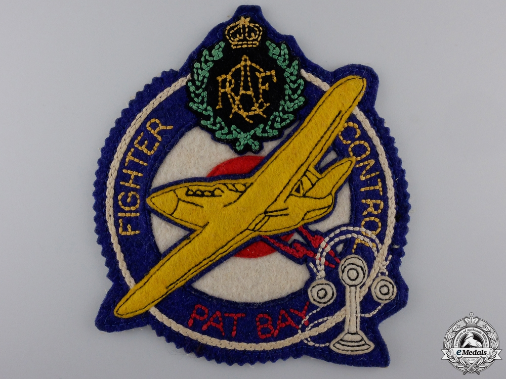 eMedals-A Second War RCAF Fighter Control Pat Bay Jacket Patch