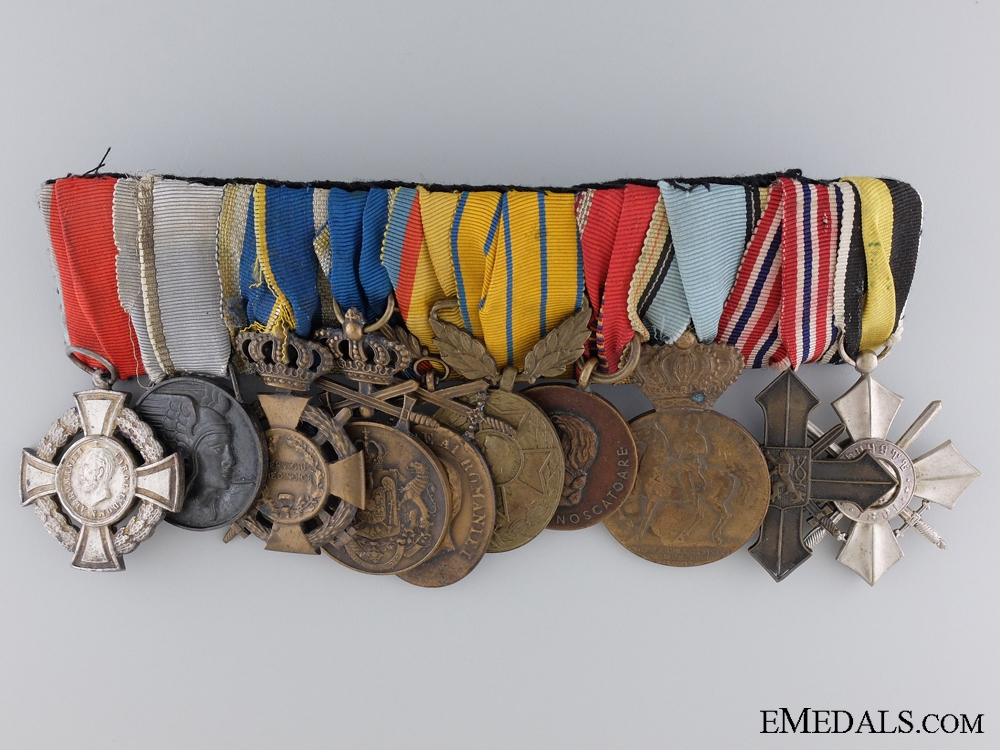 eMedals-A Second War Romanian Air Force Medal Bar