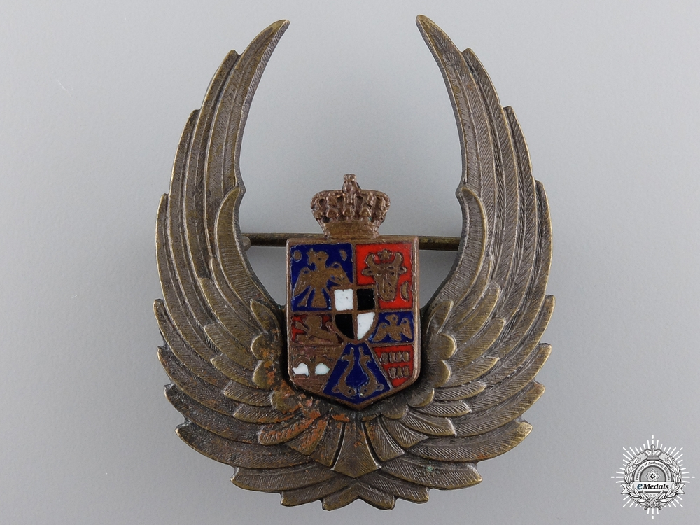 eMedals-A Second War Romanian Air Force Observer's Badge