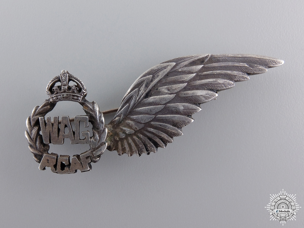 eMedals-A Second War Royal Canadian Air Force Silver Sweetheart Wing