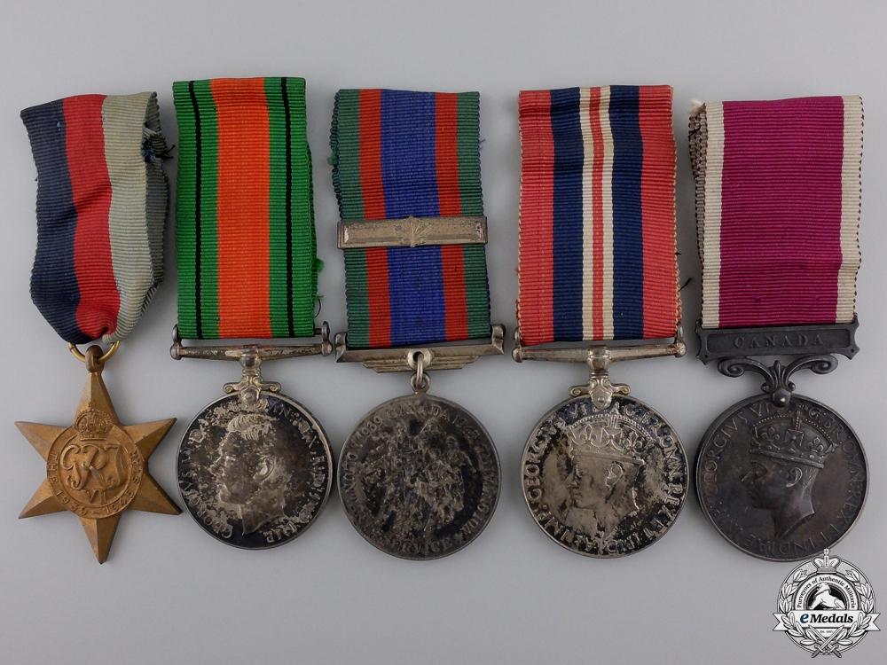 eMedals-A Second War Royal Canadian Artillery Long Service Group