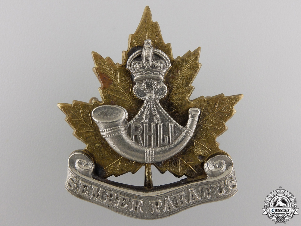 eMedals-A Second War Royal Hamilton Light Infantry Cap Badge