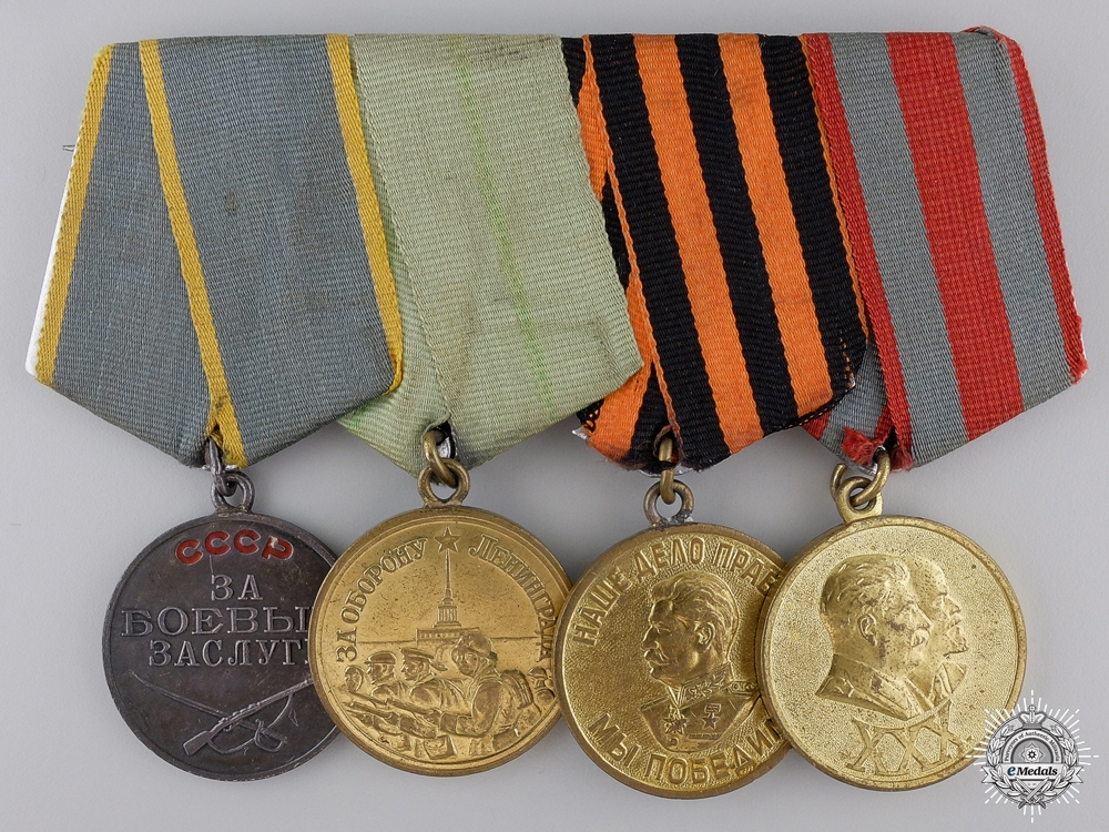 eMedals-A Second War Russian Leningrad Defence Bravery Medal Bar