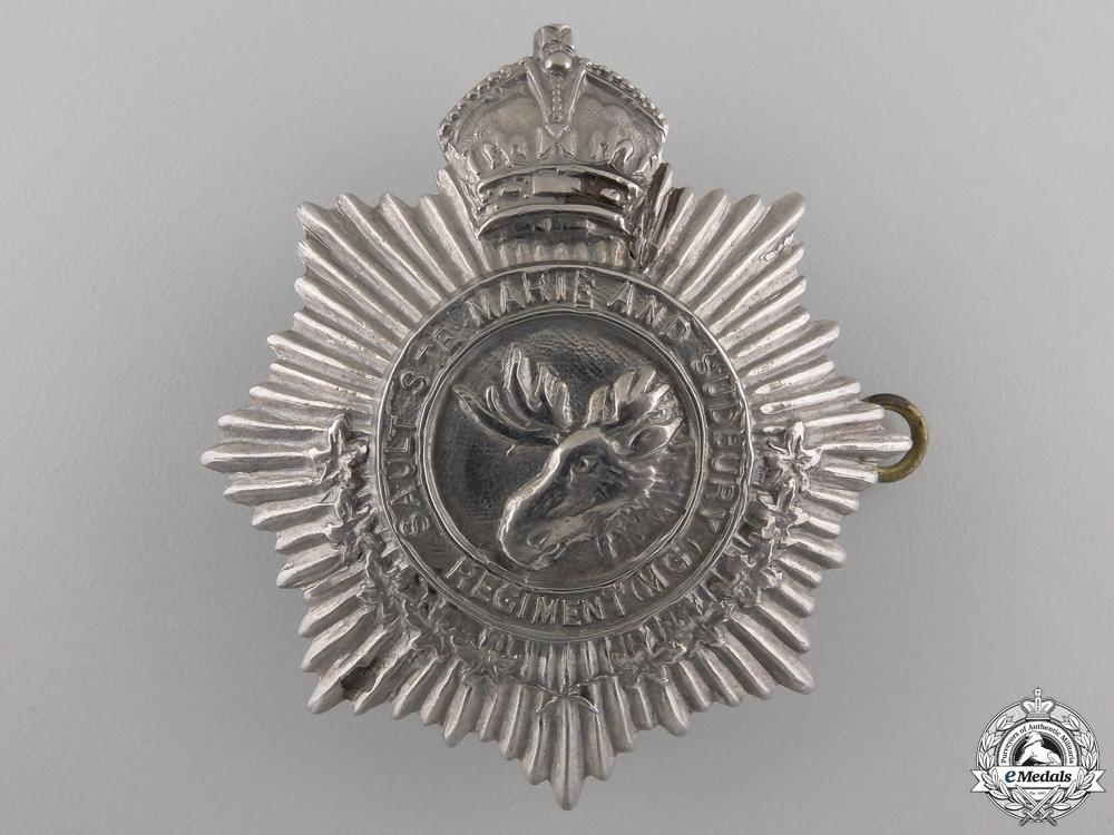 eMedals-A Second War Sault Saint Marie & Sudbury Regiment Cap Badge