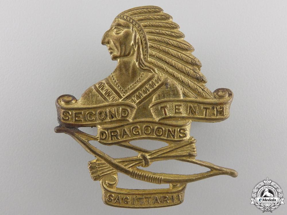 eMedals-A Second War Second-Tenth Dragoons Cap Badge