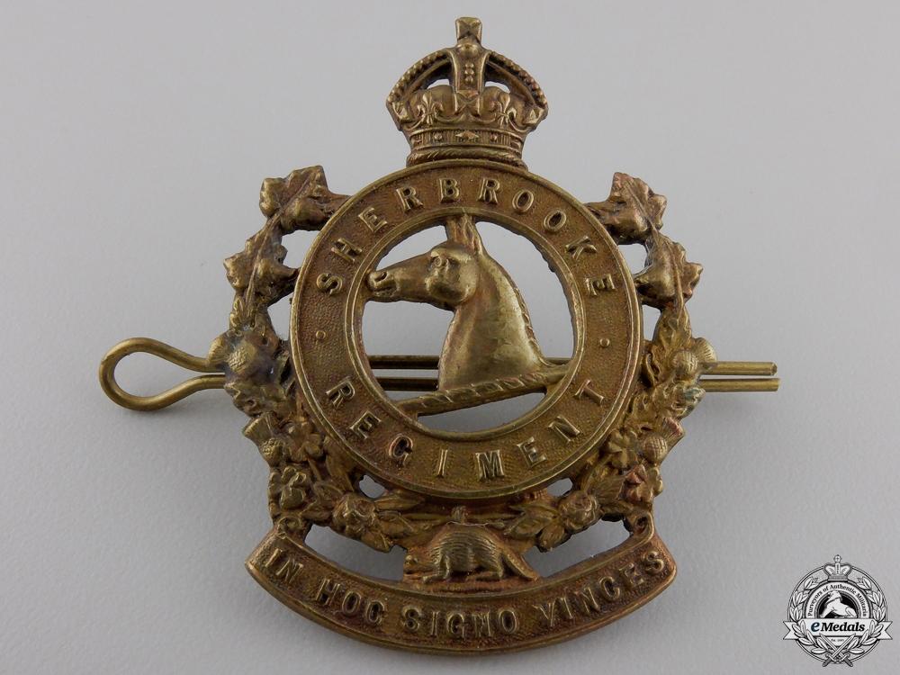eMedals-A Second War Sherbooke Regiment Machine Gun Cap Badge