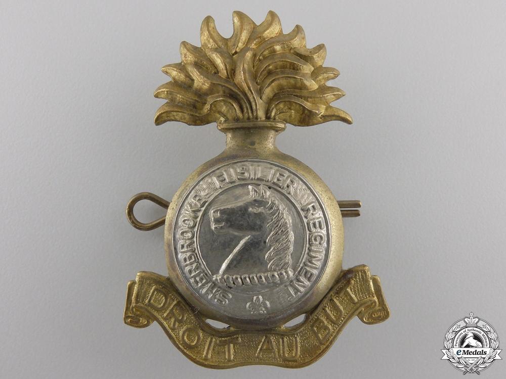 eMedals-A Second War Sherbrooke Regiment Cap Badge
