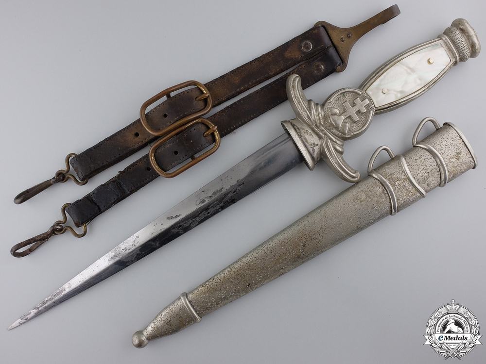 eMedals-A Second War Slovakian Army Officer's Dagger with Hanger