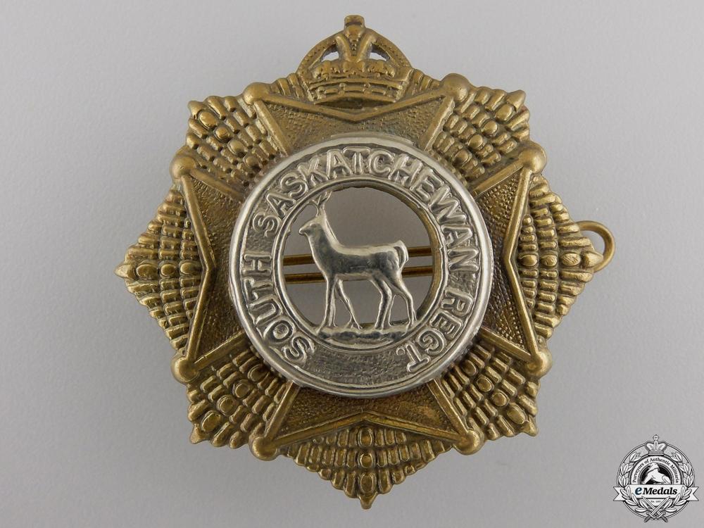 eMedals-A Second War South Saskatchewan Regiment Cap Badge