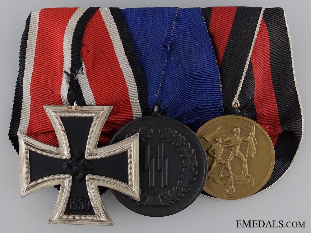 eMedals-A Second War SS Long Service & Campaign Medal Bar