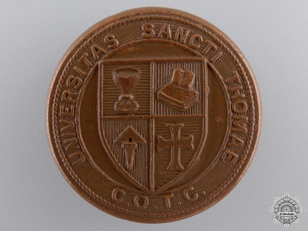 eMedals-A Second War St. Thomas University (Chatham, NB) COTC Cap Badge  consignment 27