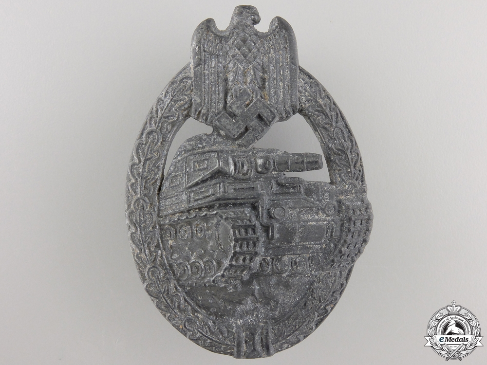 eMedals-A Second War Tank Badge; Silver Grade