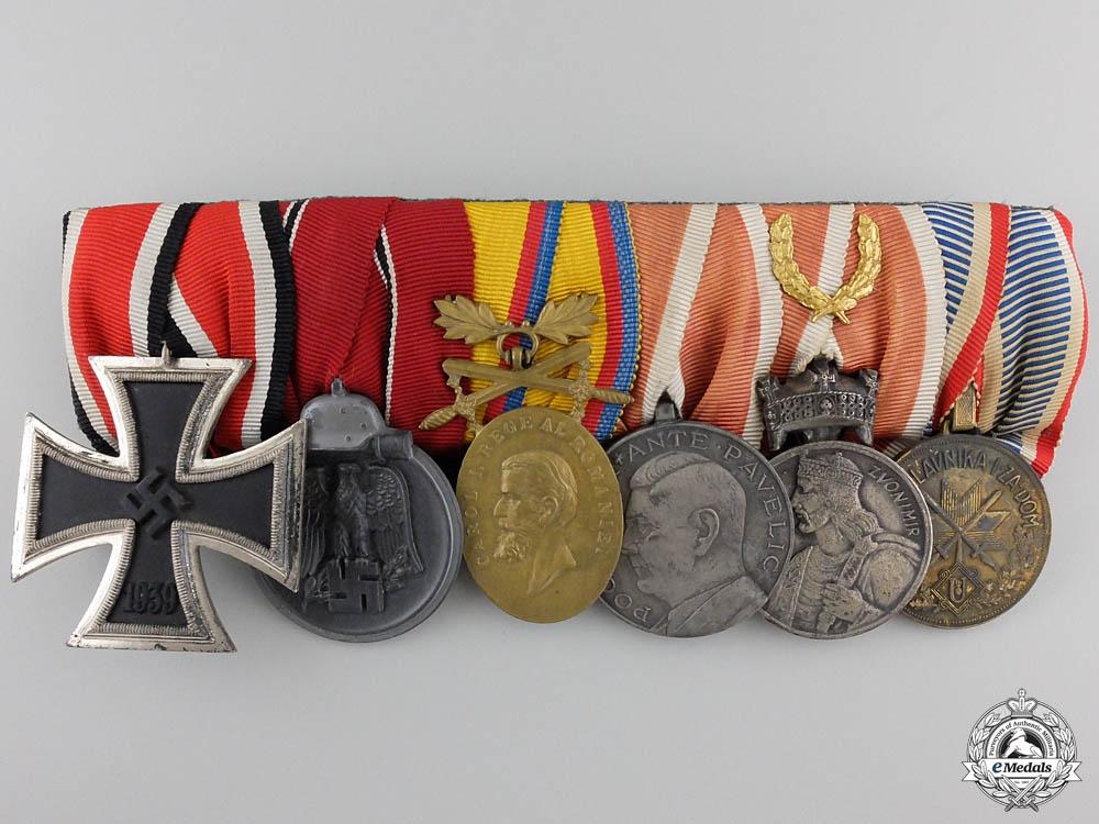 eMedals-A Second War Wehrmacht & Croatian Medal Bar