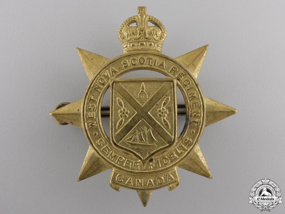 eMedals-A Second War West Nova Scotia Regiment Cap Badge