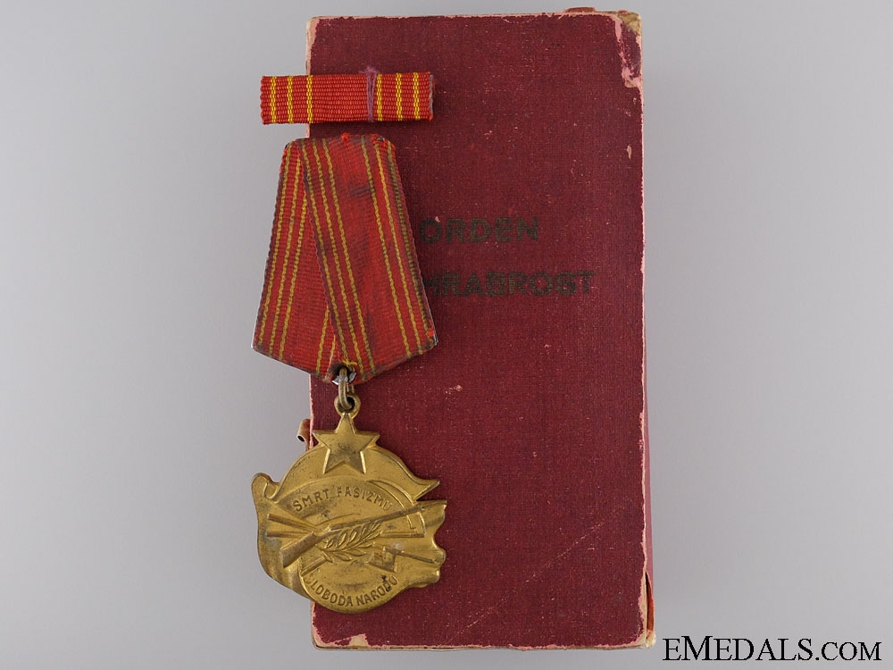 eMedals-A Second War Yugoslavian Order of Bravery c. 1943-1944