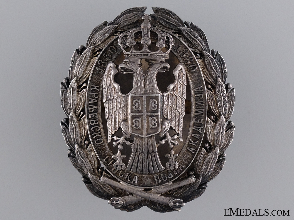 eMedals-A Serbian Military Academy Badge; Russian Made