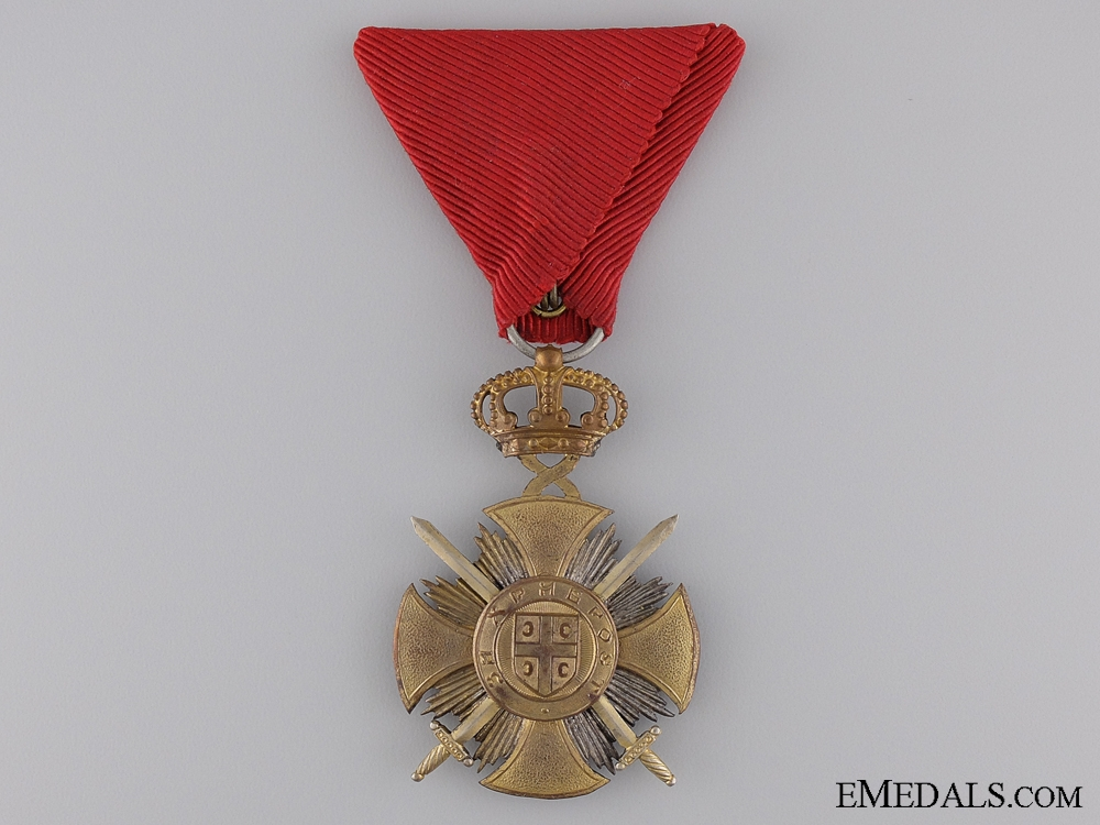 eMedals-A Serbian Military Order of Kara-George; Gold Grade