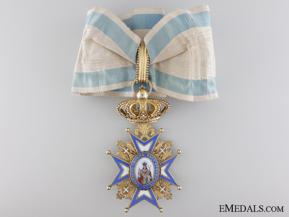 eMedals-Serbia. An Order of St. Sava, Commander's Badge, Type II, c.1915