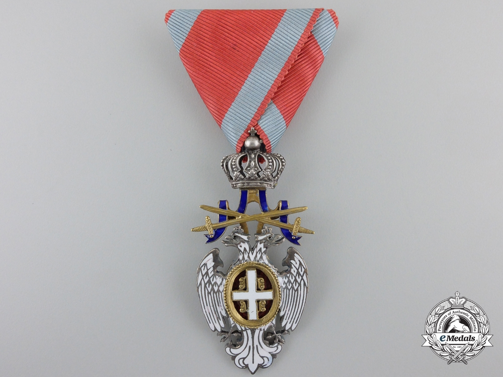 eMedals-A Serbian Order of the White Eagle with Swords; Knight