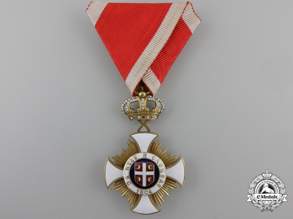 eMedals-A Serbian Order of St. Sava; 5th Class Knight with Case