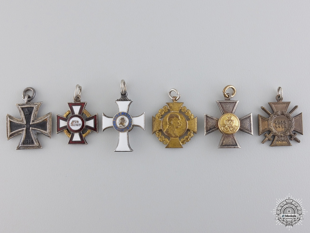 eMedals-A Series of Six Austrian & German Miniature Medals