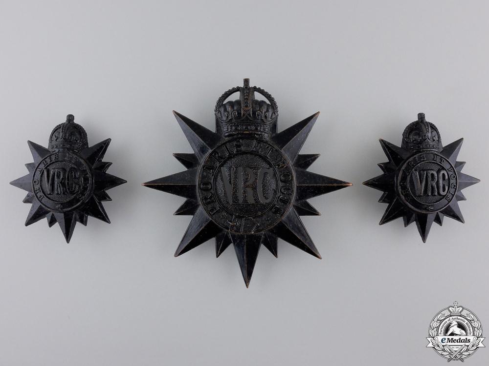 eMedals-Canada. A Set of 3rd Regiment Victoria Rifles of Canada Badges 1904-1920