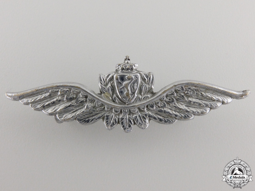 eMedals-A Set of Royal Norwegian Air Force (RNAF) Pilot Wings