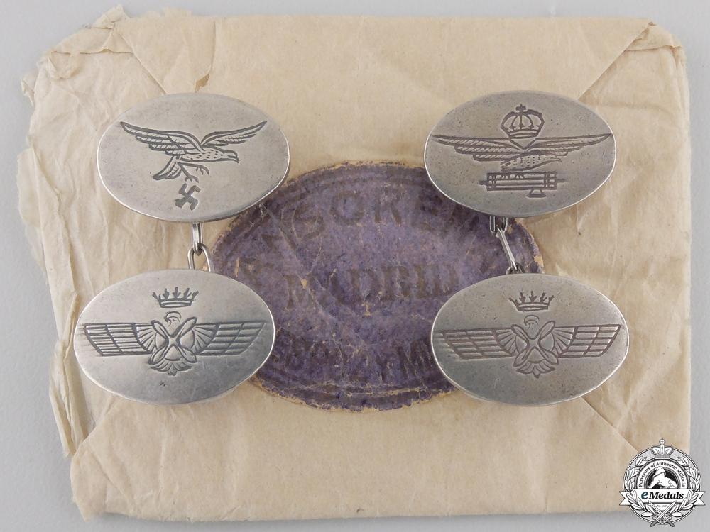 eMedals-A Set of Spanish Civil War Air Force Cufflinks