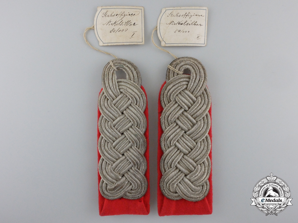 eMedals-A Shoulder Boards Pair to Wehrmacht Army Artillery Major