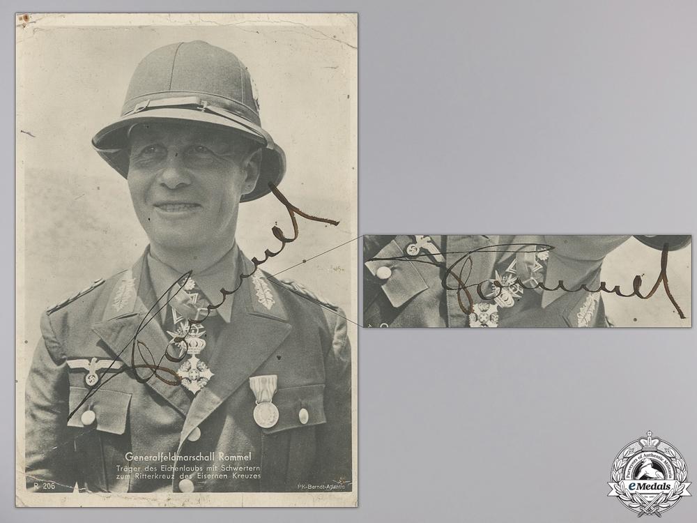 eMedals-A Signature of Generalfeldmarschall Erwin Rommel 1944