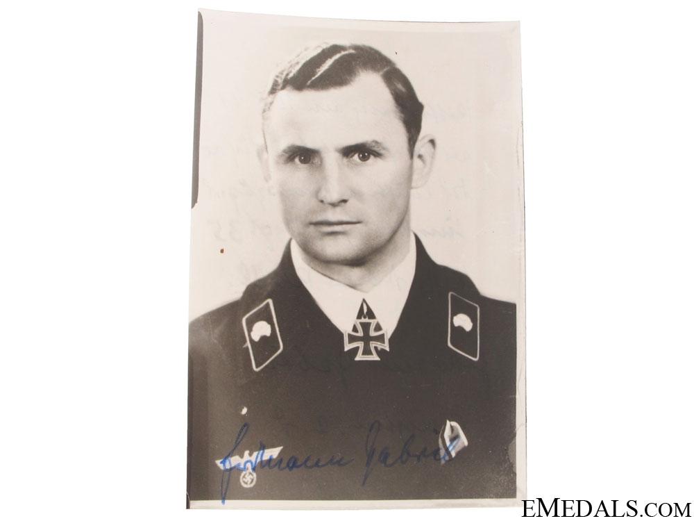eMedals-A Signed Panzer KC Winner Photograph