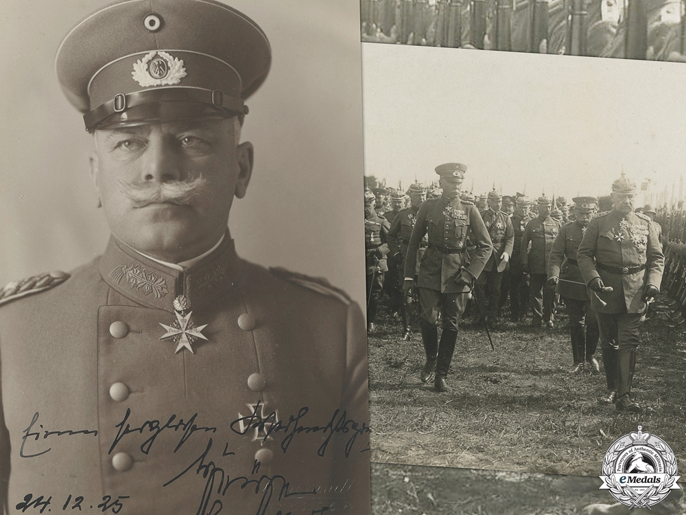 eMedals-A Signed Photo of Generaloberst Wilhelm Heye
