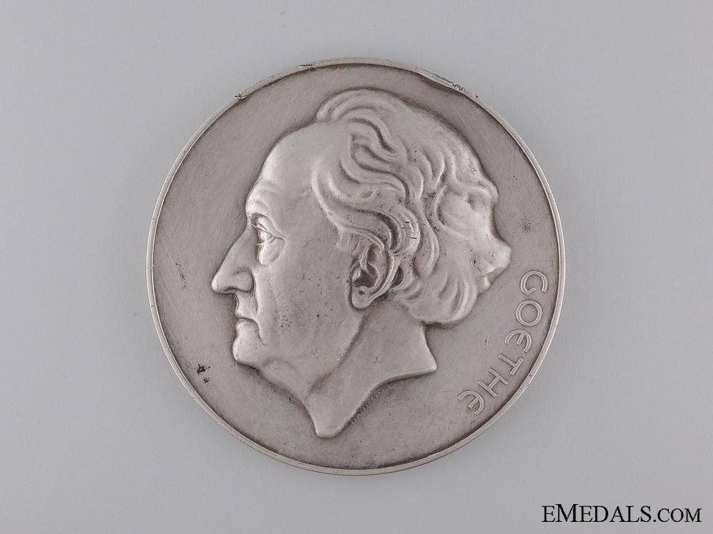 eMedals-A Silver Goethe Award Medal to Robert Holtzmann; Second Model
