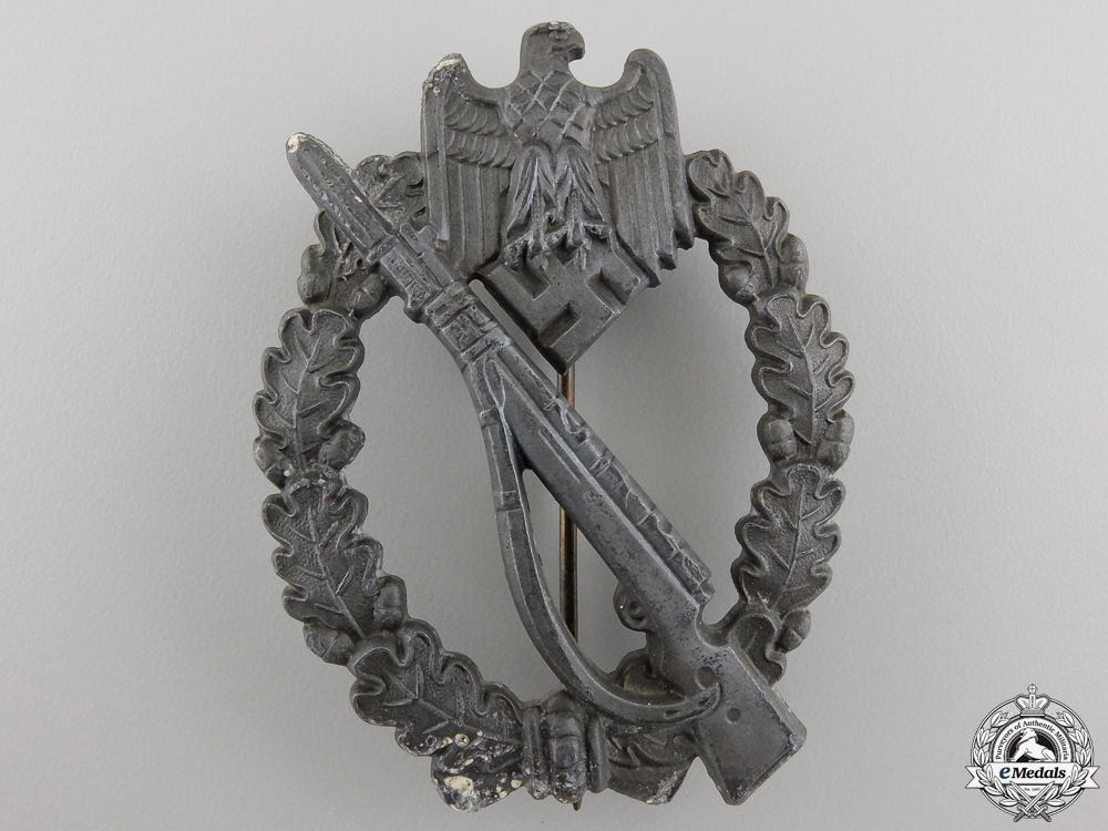 eMedals-A Silver Grade Infantry Badge; Unmarked